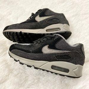 Womens Nike Air Max 90 SE in Black and Grey Denim